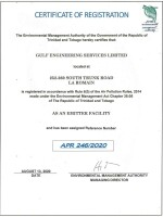EMA Air Pollution Emitter Registrar Certificate